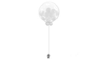 Bubble-garni-avec-ballons-gris